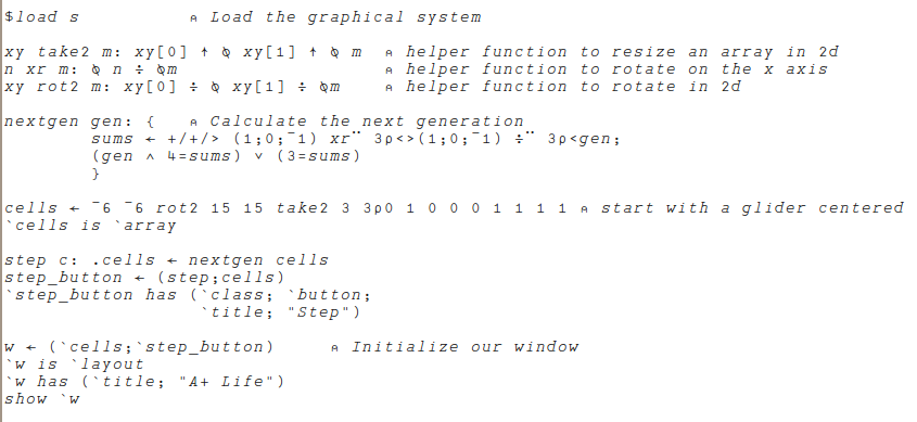 The A Programming Language Probably Programming